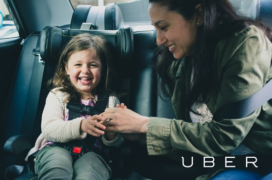 Car-sharing just got a lot more doable for people with kids. Photo: ##http://blog.uber.com/uberfamily##Uber##