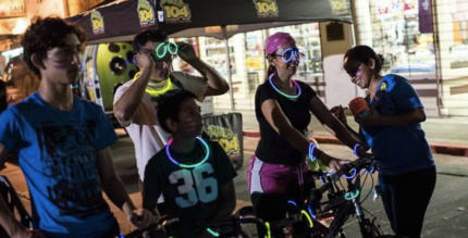 Brownsville holds its open streets event, Cyclobia, at night, she the temperatures are more comfortable. Photo: CycloBia Brownsville