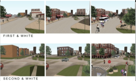 "Campaign-Urbana's ""transit intensive corridors"" are planned to become progressively more populated and walkable. Image: Champaign-Urbana Mass Transit District"