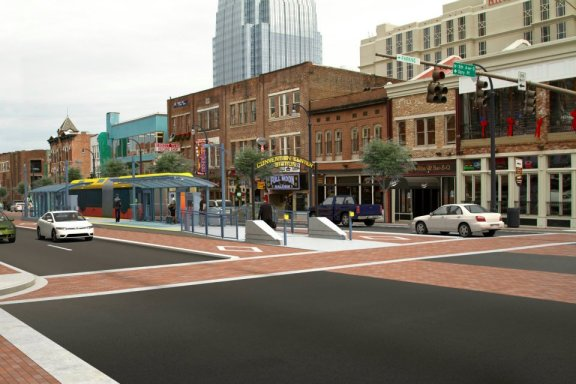 As REM would say, it's crazy what you could've had, Nashville. Rendering of an AMP bus rapid transit stop from Facebook, via ##http://nashvillepublicradio.org/blog/2013/07/01/brt-dummy-post/##Nashville Public Radio##