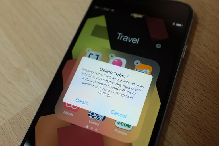 Deleting your Uber app was up there with the Ice Bucket Challenge of strange things people liked to do in public in 2014. Photo: ##http://www.cnet.com/how-to/how-to-delete-your-uber-account/##CNET##