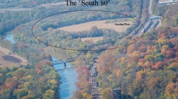 The highway plan would relocate SR 32 through Mariemont's South 80 Park. Image: Village of Mariemont
