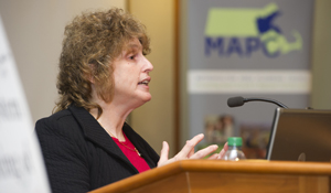 Stephanie Pollack, a thought leader on how housing and transportation policy impacts minorities and low-income people, will be the new secretary of MassDOT. Photo: ##http://www.northeastern.edu/news/faculty-experts/stephanie-pollack/##Northeastern##