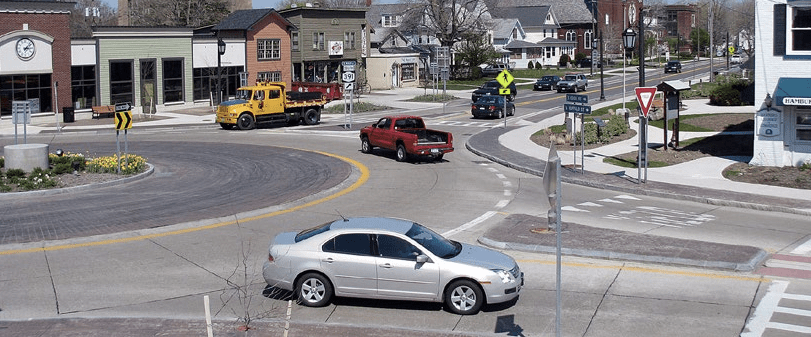 This complete street redesign in Hamburg, New York, decreased collisions 57 percent. Photo: Smart Growth America