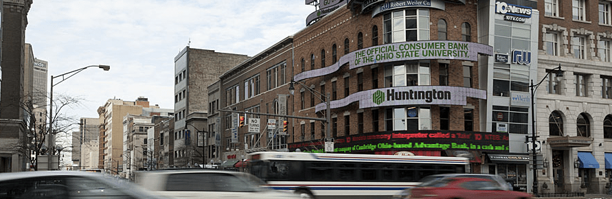 Downtown Columbus workers might soon have access to free transit. Photo: DowntownColumbus.com