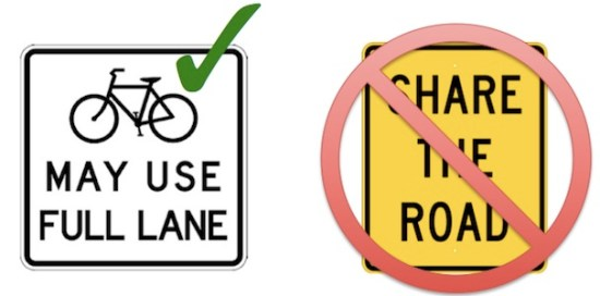 Image: ##http://www.bikede.org/2015/08/29/share-the-road-is-a-problem/##Bike Delaware##
