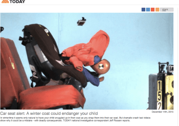 Alarming articles about car seat fails are part of the territory for new parents. But the scaremongering stops short. Image: Today