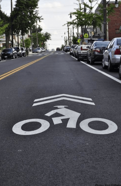 Sharrows are useless and perhaps even harmful, a new study found. Photo: University of Colorado Denver