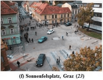 """A """"shared space"""" in Austria. Image: Transportation Research Board"""