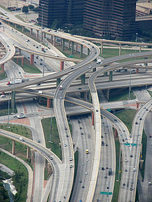 "Dallas' ""High Five"" Interchange. Photo: Wikipedia"
