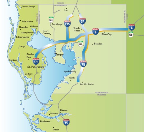 This is what $6 billion in highway projects looks like. Map: FDOT