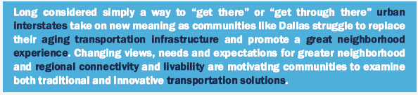 This is a page in the Texas Department of Transportation's newest report about Dallas highways.