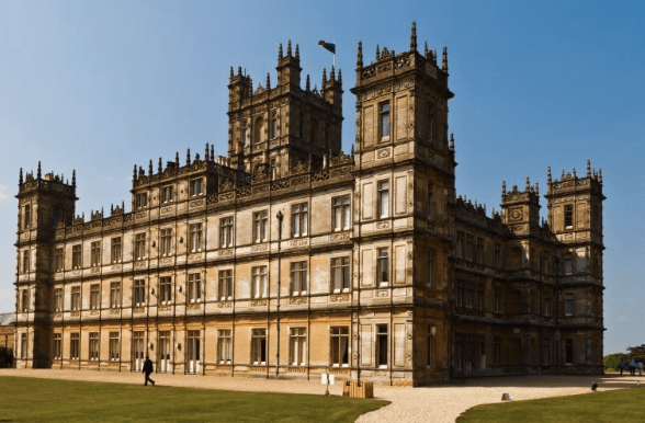 "Even ""Downton Abbey"" is past its heyday (Highclere Castle)"