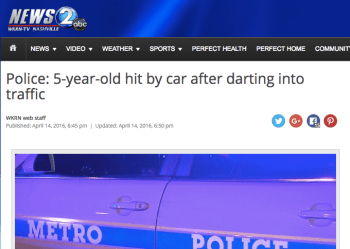 """Reports that accuse pedestrians of """"darting"""" into traffic are remarkably common. Image:"""