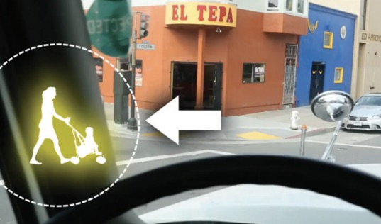 Image from a San Francisco educational video. Via Vision Zero Network