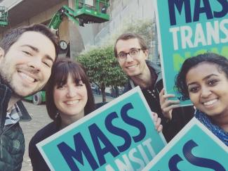 Transit backers had a stellar night in local elections, but the Trump win brings funding uncertainty. Photo: Seattle Chamber