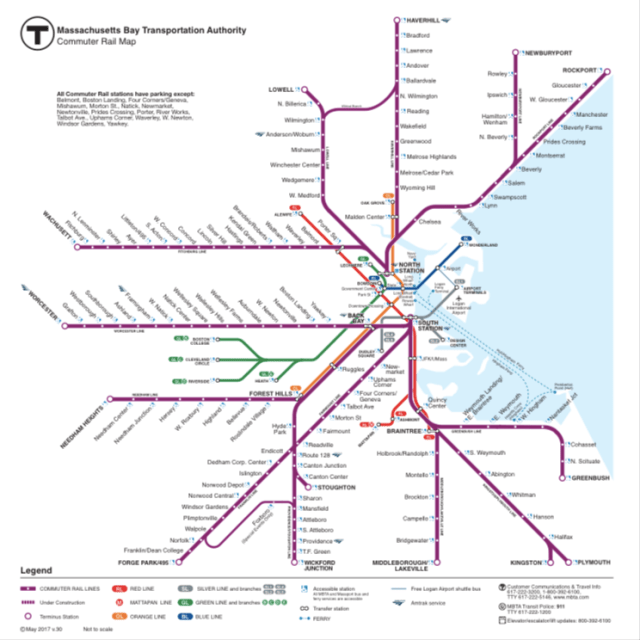 Providence Subway Map.Boston S Best Bet For Better Transit Modernizing Commuter Rail