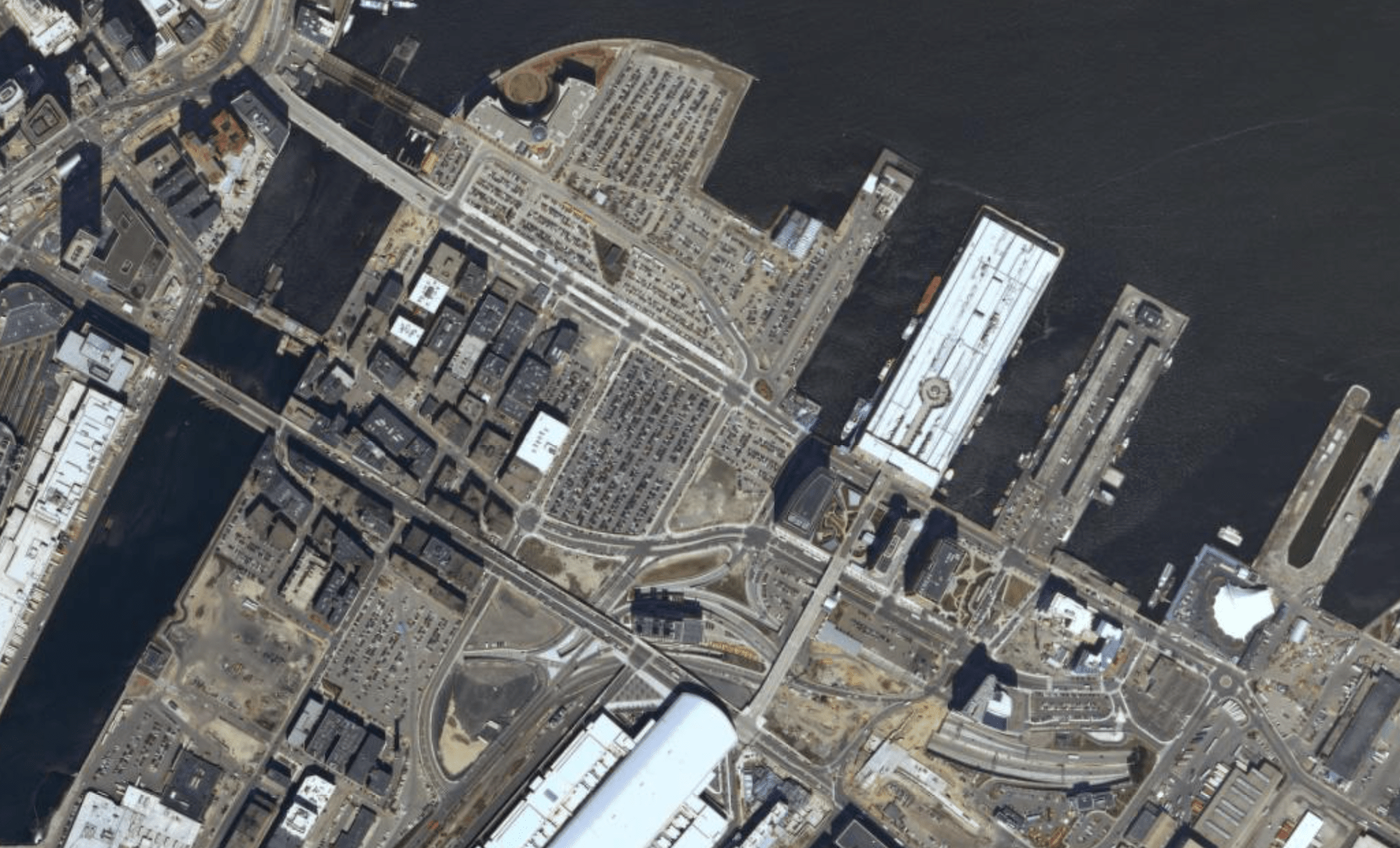 boston seaport before