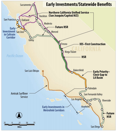 Map Of California High Speed Rail.A Victory For Ca High Speed Rail But Still A Long Fight Ahead