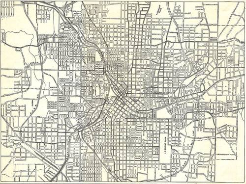 Atlanta's street grid, circa 1911. Image: ##http://atlurbanist.tumblr.com/post/70217724429/how-to-screw-up-a-street-grid-atl-style## ATL Urbanist##