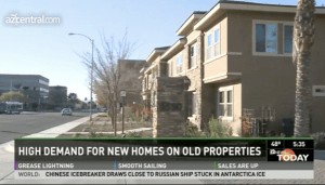 "A Phoenix news station reports on the rise of ""infill"" development near the city center. Image: ##http://www.azcentral.com/business/realestate/articles/20131120phoenix-housing-market-core.html## AZCentral.com##"