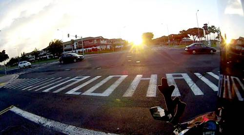 "This ""Aloha"" crosswalk is delighting crowds and vexing public officials. Why? Image: Strong Towns"