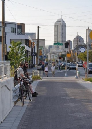 Around Virginia Avenue, the Indianapolis Cultural Trail has helped give rise to a booming new neighborhood. Photo: Curtis Ailes