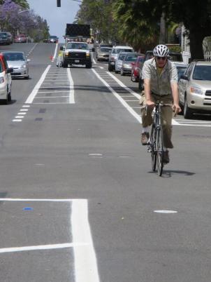 The city of San Diego has built a network of buffered bike lanes in the last year. Photo: Adrian Granda