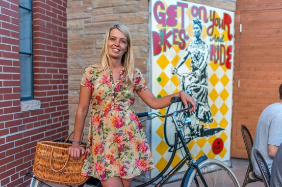 Kristyn St Denis is the owner of BalAir Cantina on North Avenue. Business owners such as she were strong proponents of the streetscape overhaul. Photo: Urban Milwaukee