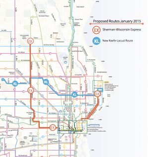 This new route, the 30X, will run along the system's most widely ridden route, carrying 4 million rides a year. Image: Urban Milwaukee via MCTS