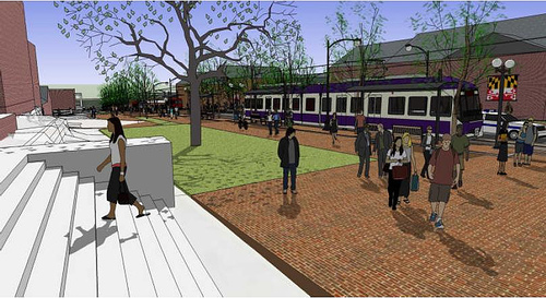 The Purple line, connecting suburban Maryland to DC, is expected to generate a development boom around its stations, like the Silver Line has in Virginia. Image: Rethink College Park