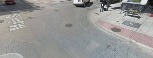 Dallas has been creating crosswalks by stamping patterns into concrete. This is the wrong approach, says Mark Brown. Photo: Car Free Dallas