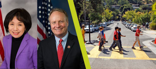 California Democrat Doris Matsui and Ohio Republican David Joyce are co-sponsors of the Safe Streets Act of 2015. Image: Smart Growth America