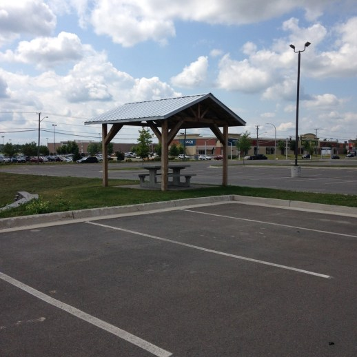 Gracen Johnson at Strong Towns says this gazebo in an office park parking lot is a great example of a terrible public space.