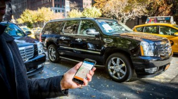 Ride-hailing App Via is designed to ferry multiple passengers for less than an Uber fare. Photo: Via