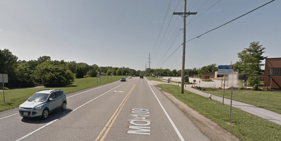 A 7-year-old girl was killed on this road Saturday night while trying to walk to a father-daughter dance. Image: Google Maps