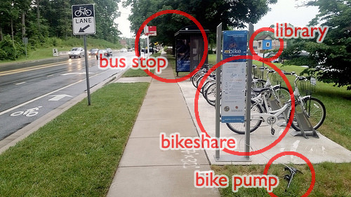 """College Park, Maryland's """"Bus Stop of the Future."""" Image: Beyond DC/Flickr"""
