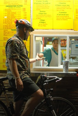 Drive-throughs in Portland will have to serve people on foot or bike if the walk-in enterances are closed. Photo: Bike Portland