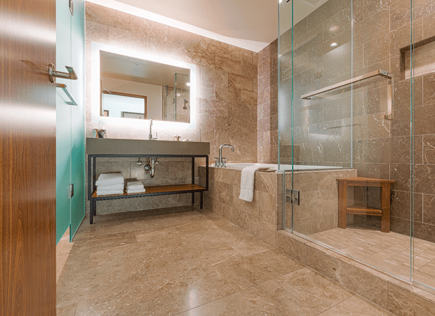 Remodeling Bathroom with Frameless Shower Doors