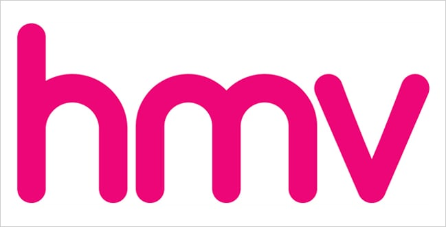 Color User Experience (UX) And Psychology - Pink hmv Logo