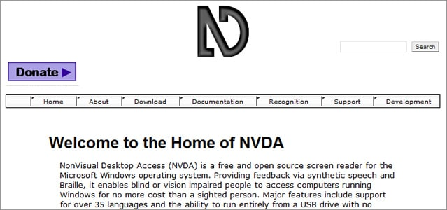 NVDA free screen reader