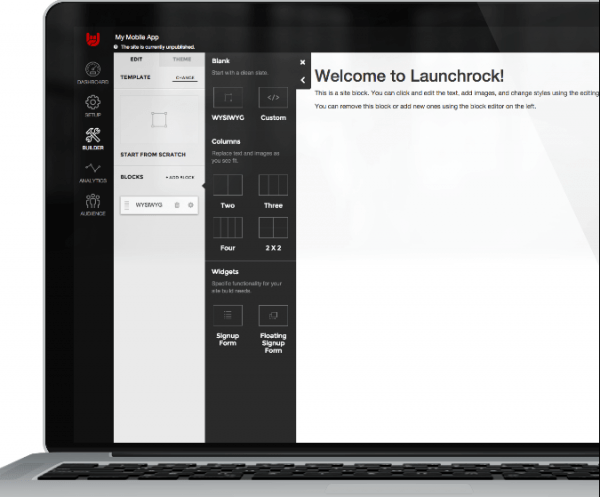 Launchrock is one of the best alternatives to Unbounce