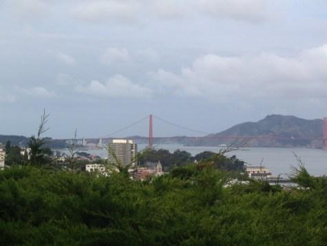 Ausblick vom Coit Tower: Die Golden Gate Bridge