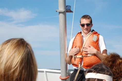Sicherheitshinweise auf der Bootstour