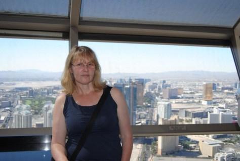Jutta auf dem Turm