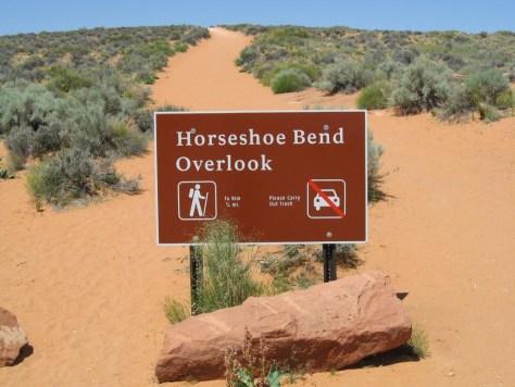 Der Weg zum Horseshoe Bend