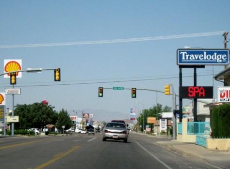 Typische Kleinstadtstraßenszene im Südwesten der USA
