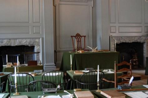 Hier wurde die amerikanische Verfassung diskutiert