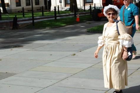 Eine Fremdenführerrin im Historic District
