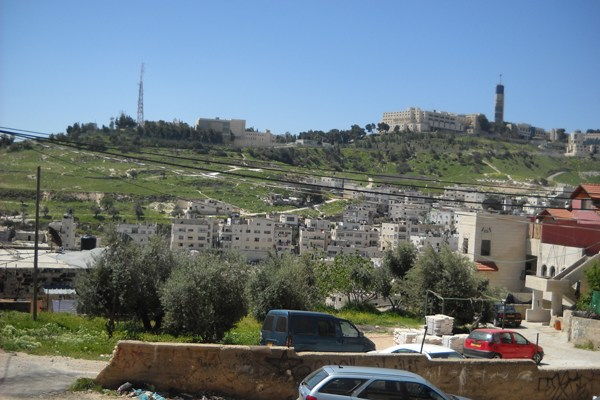 Hebrew University as seen from the East Jerusalem village of Issawiya